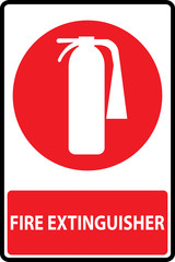 Fire extinguishers sign