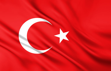 The National Flag of the Turkey