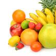 fruit set isolated on a white background