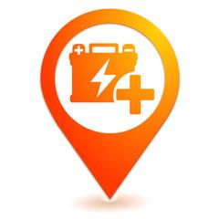 batterie sur symbole localisation orange