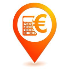 calculatrice budget sur symbole localisation orange