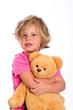 sweet girl with teddy