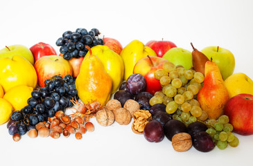Assorted fresh, ripe fruits