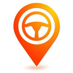 volant sur symbole localisation orange