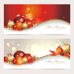 Set mit 2 edlen Weihnachtskarten