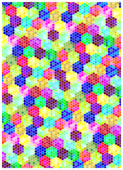 color vector honeycombs background