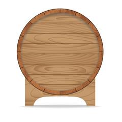 Wooden barrel on white ,Vector illustration