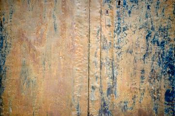 Rusty metal plank