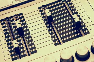 Vintage sound mix board