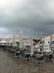 Arc-en-ciel dans le port de Saint Martin en Ré