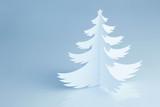 Beautiful white handmade Christmas tree - horizontal