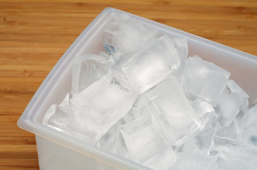 ice cubes in a box
