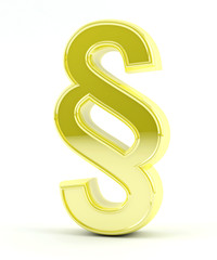 Paragraph symbol - Gold