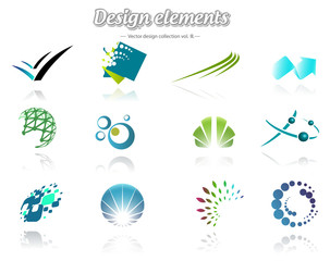 Colorful design set of icons, isolated, vector illustration