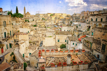 The Sassi of the Rupestrian city of Matera - Basilicata - Italy