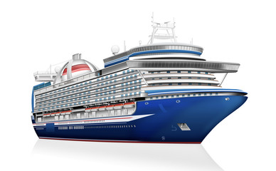 Kreuzfahrtschiff, Luxusliner freigestellt