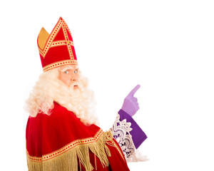 Sinterklaas with pointing finger