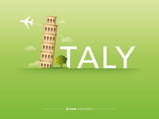 Italy typography