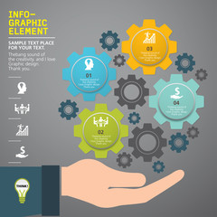 modern info-grapgic design, vector, template Big idea