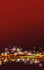 Weihnachts Hintergrund in rot mit glitzernden goldenen Sternen