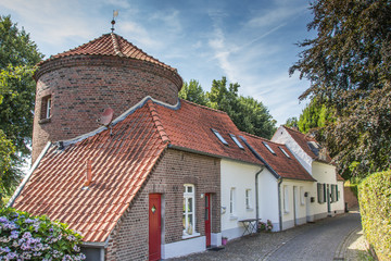 City wall and old houses in Kranenburg
