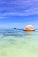 asia in thailand  kho    rocks pirogue  and south china sea