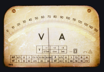 Vintage multimeter scale