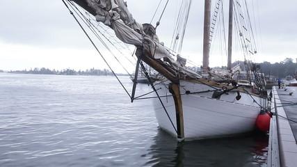 Sailing ship at berth