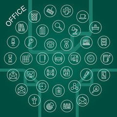 Vector Line Icons - Office