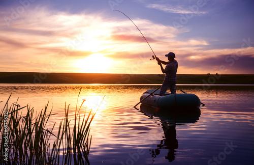 Fotobehang Vissen Fisherman