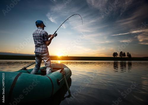 Foto op Plexiglas Vissen Fisherman