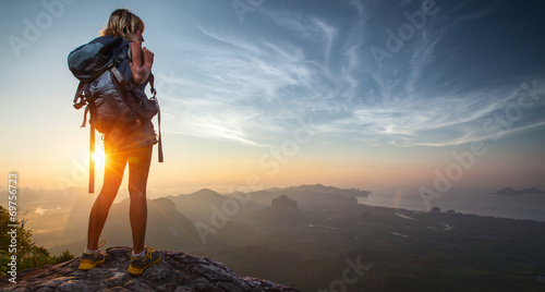 canvas print picture Hiker