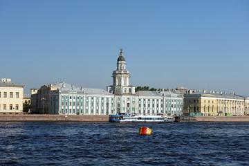 View of  Kunstkammer across Neva river, St. Petersburg, Russia