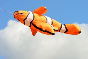 Orange goldfish kite