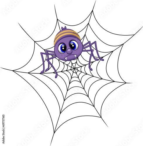 Cute spider cartoon - 69757160