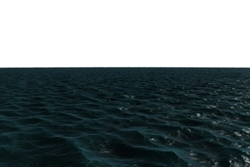 Digitally generated dark Blue ocean
