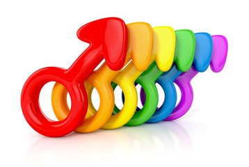 male symbols representing gay community