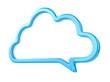 blue speech bubble - conversation chat texting icon