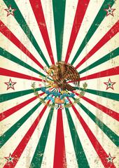 retro mexican sunbeams poster