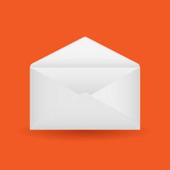 Vector empty envelope on background