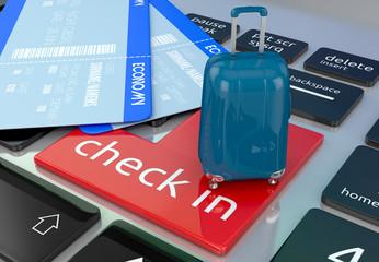 online booking concept. 3d illustration