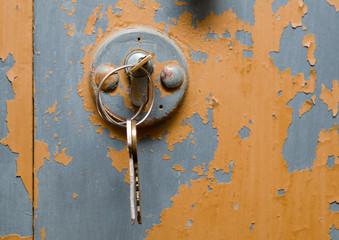 Metal door and keys