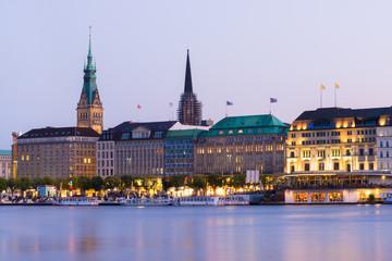 Hamburg Jungfernstieg view