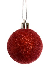 Red christmas ball decoration hanging