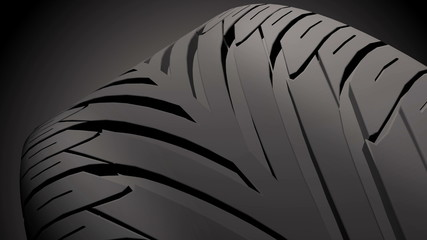 4K Close up on a car tire in motion