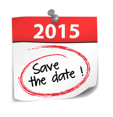 post it : save the date 2015 (cs5)