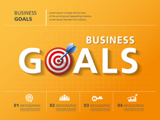 info graphic design, vector, template, goals, business