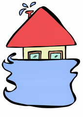 doodle symbol flood