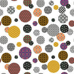 Seamless frame from patterned circles