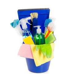 hausputz mit reinigungsmittel
